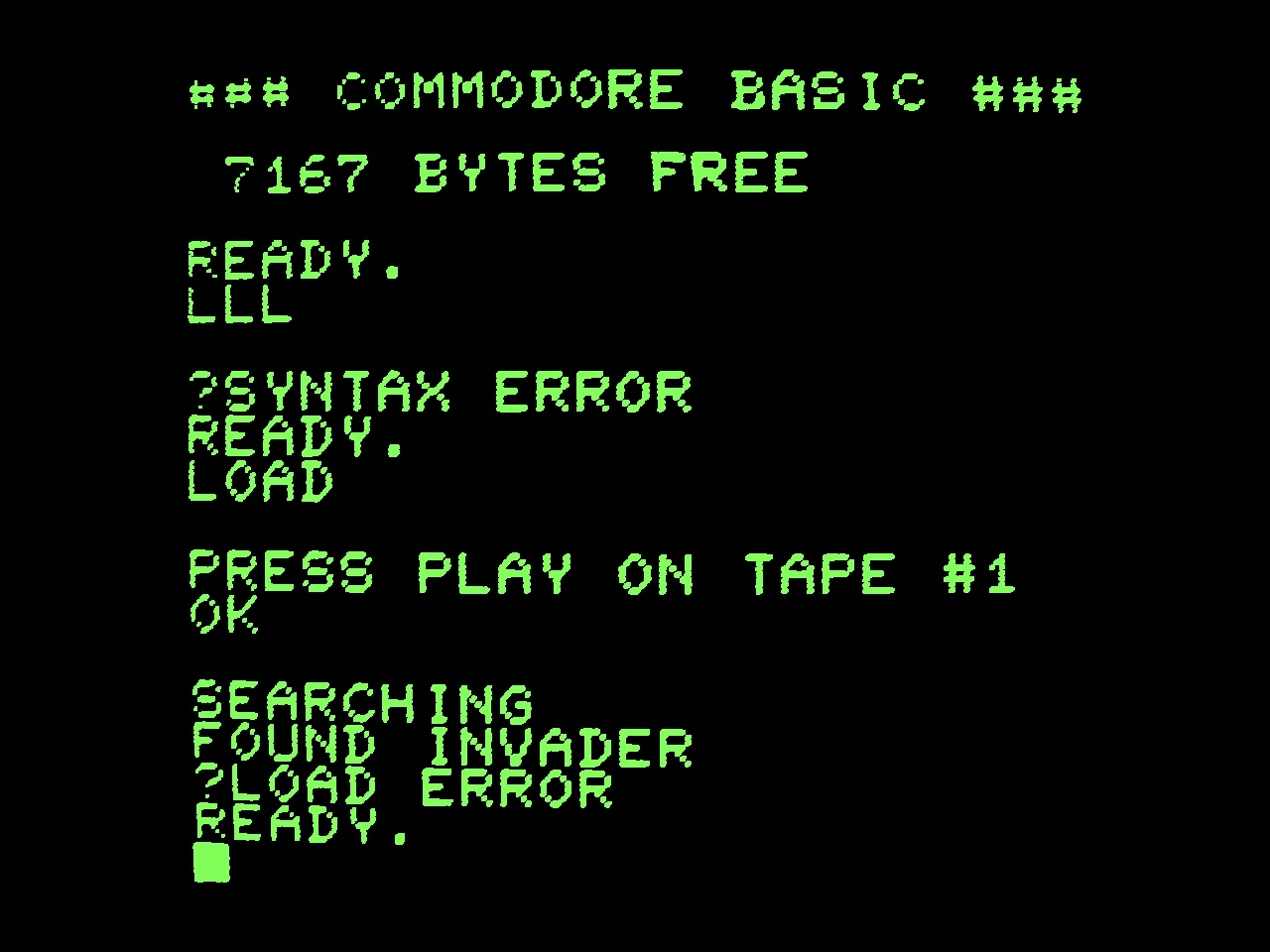 Basic: скриншот Commodore Basic